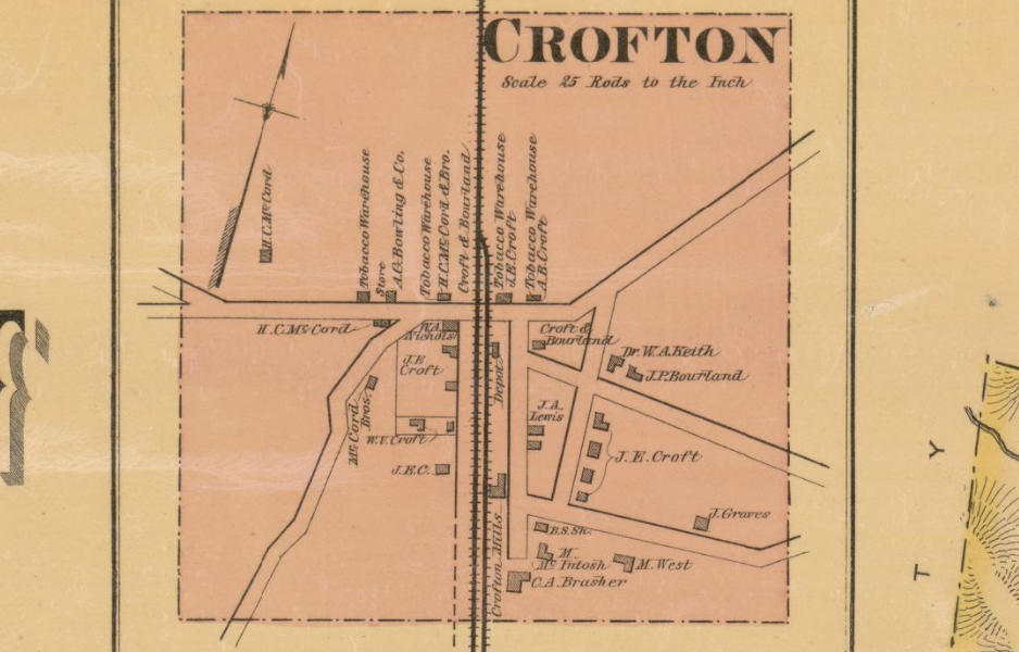 Antique Crofton City Map