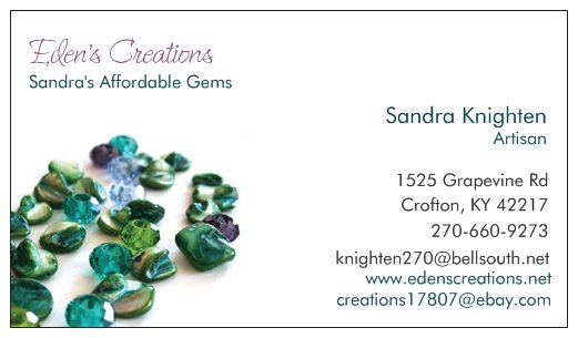 Affordable Gem's Sandra Knighten, local artisan